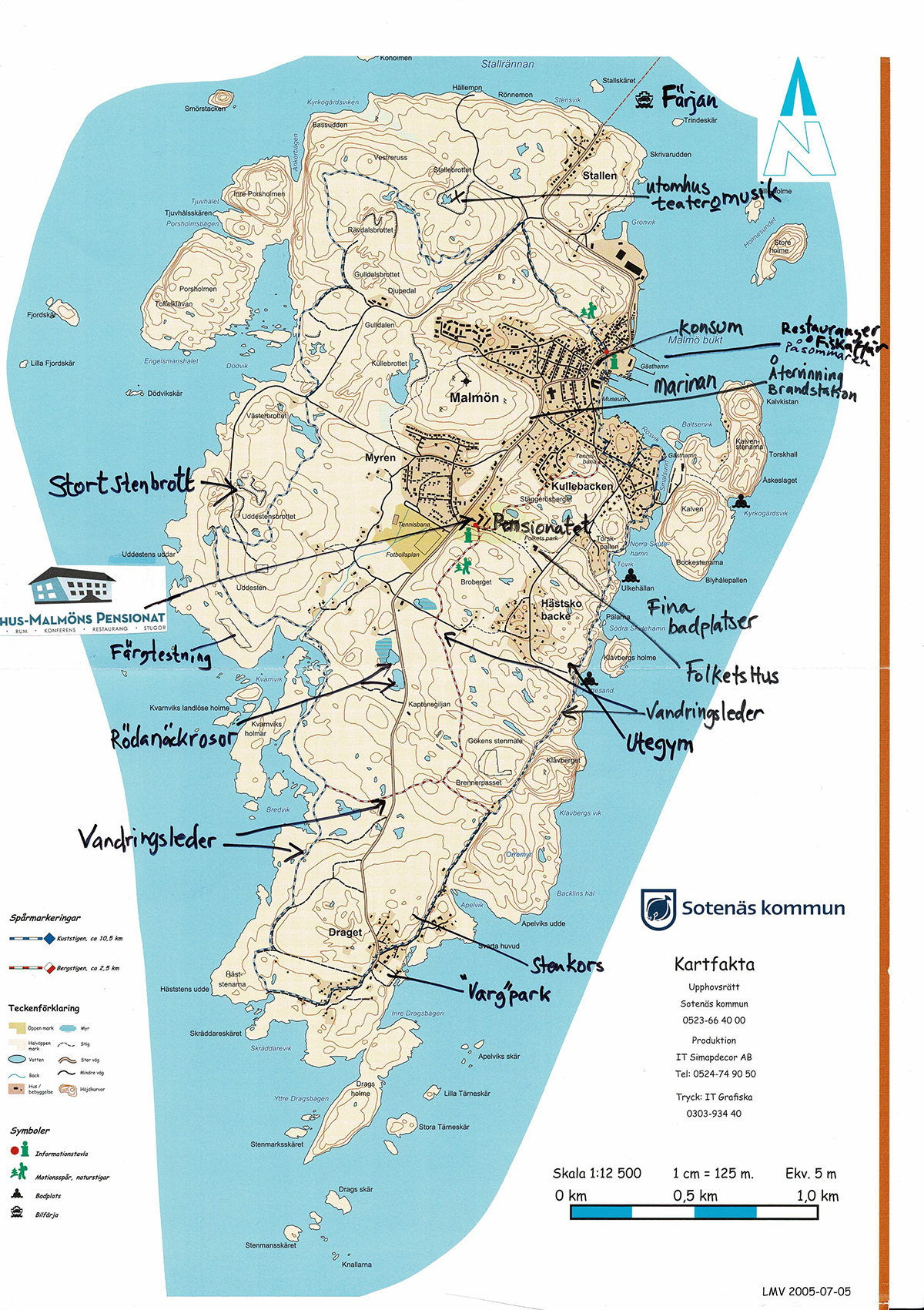 Vandringskarta Bohus Malmön